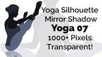 Yoga Exercise Mirror Transparent Silhouette 07