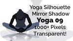 Yoga Exercise Mirror Transparent Silhouette 09