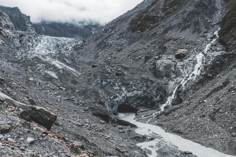 Gletscherkante des Franz-Josef-Glacier
