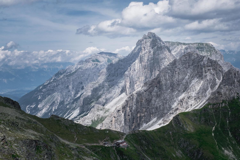 Kalkwand vor der Innsbrucker Hütte