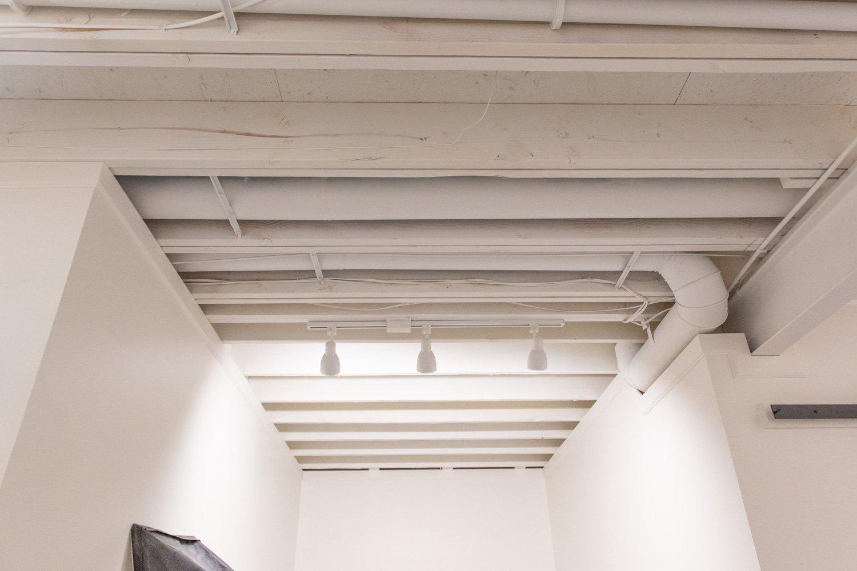 painted basement ceiling