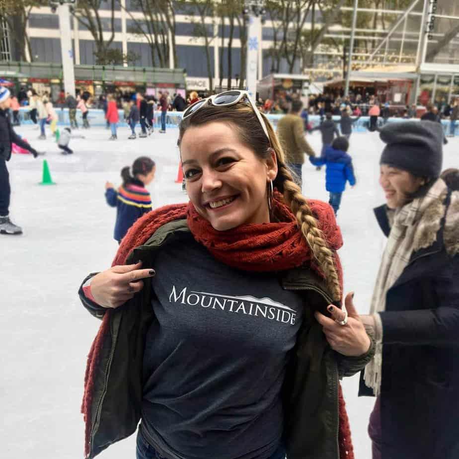 Mountainside alumni event bryant park skating adriana