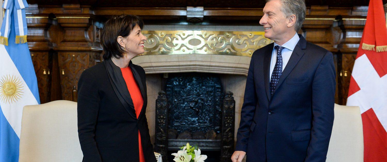 Bundesrätin Doris Leuthard mit Präsident Macri von Argentinien (Quelle: EDA)