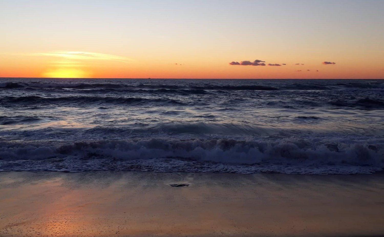 Palinuro, tramonto sulla spiaggia delle saline, il cilentano cilento