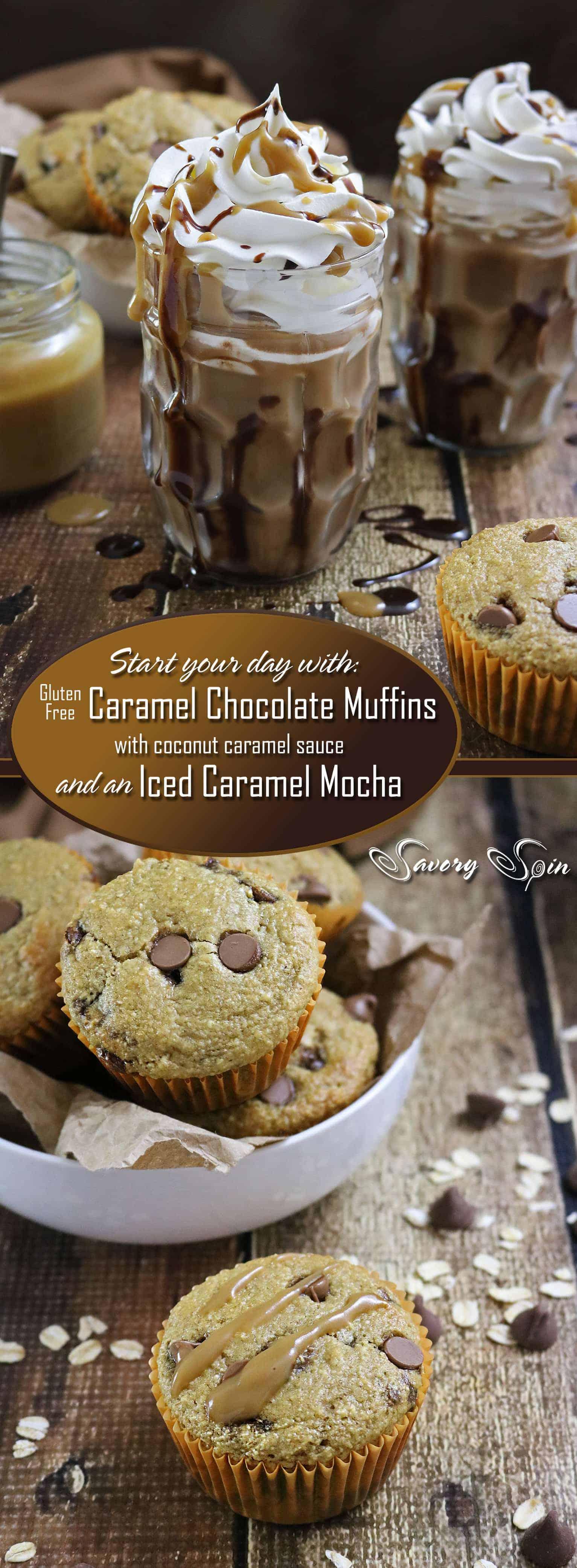 Gluten free Caramel Chocolate Muffins And Iced Caramel Mocha #SilkandSimplyPureCreamers #ad