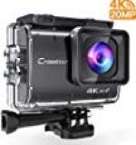 Amazon – Crosstour Action Cam Echte 4K 20MP WiFi – Unterwasser 40M Kamera Anti-Shake Zeitraffer & Loop-Aufnahme Plus 2 Wiederaufladbare 1350mAh Akkus USB-Ladegerät und Zubehör-Sets
