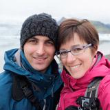 Vanessa et son mari en Islande