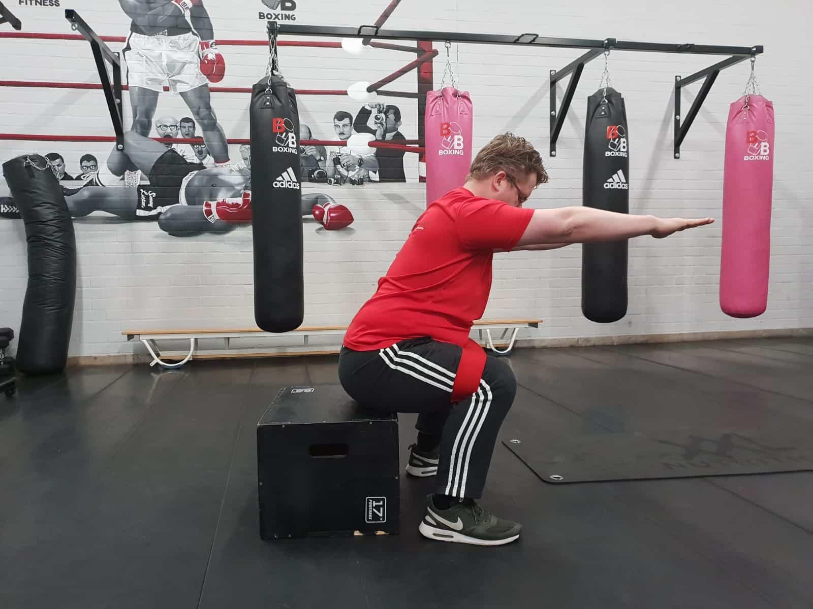 Box Squat fysiotherapie