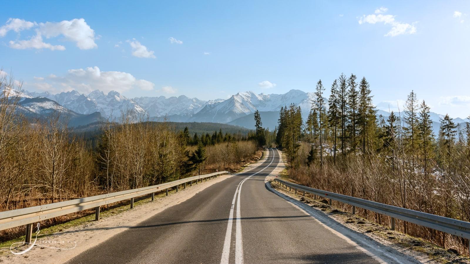 Droga na Tatry! Bukowina Tatrzańska - droga w pobliżu schroniska Głodówka