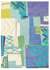 fioletowy beżowy dywan artystyczny Atlas 19808