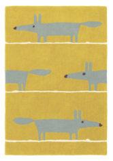 żółty dywan dziecięcy Mr Fox Mustard 25306