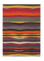 pomarańczowo szary dywan w paski Estella Summer 85200