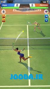 بازی تنیس کلش Tennis Clash