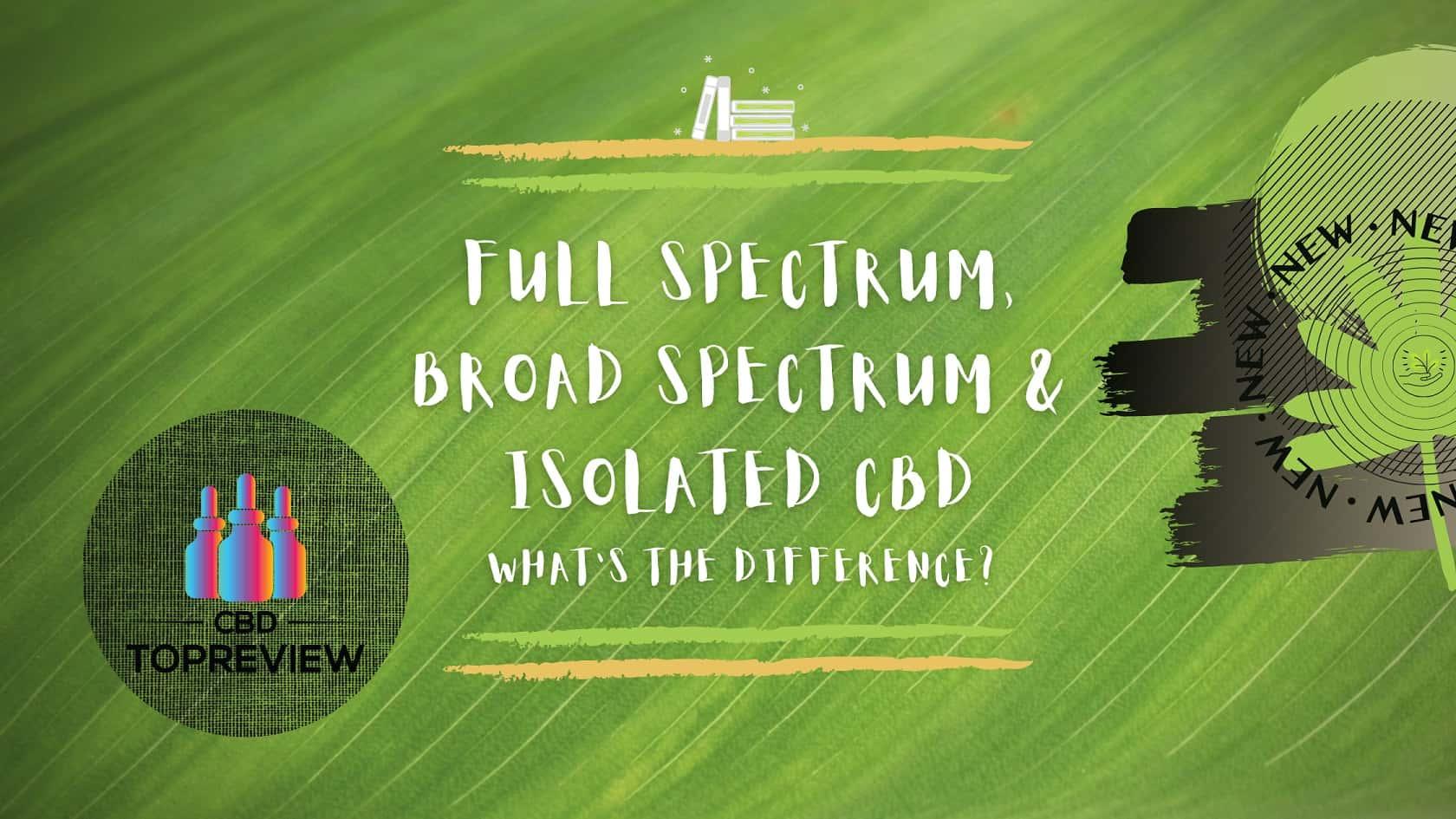 CBD spectrum variants