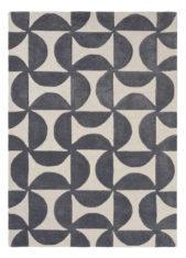 szaro czarny dywan geometryczny Forma Liquorice 26205