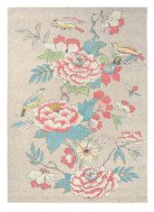 Błękitno Różowy Dywan w Kwiaty - PAEONIA BLUSH 37902