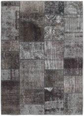 brązowy dywan perski Patchwork Earth 1007