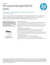 HP LaserJet Managed E60165dn Mono A4 Printer Datasheet thumbnail