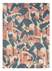 różowo szary dywan w ptaki Cranes Pink 57002