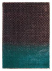 zielono brązowy dywan nowoczesny Dipgeo Rust 58405