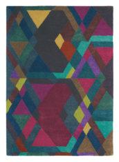 kolorowy dywan geometryczny Mosaic Deep Purple 57607