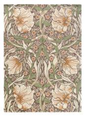 beżowo zielony dywan w kwiaty Pimpernel Aubergine 28805