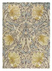 beżowo Żółty dywan w kwiaty Pimpernel Bullrush 28808