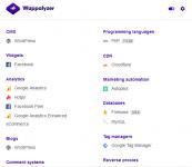 Identyfikacja użytych technologii na stronach internetowych - Wappalyzer