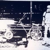 """Spacechopper in a Galaxy far far away"" von Trafford Parsons, limitierter Siebdruck"