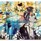 """Abstraktes Kunstwerk """"Die Königin schläft neben den Magnolien"""" Unikat von M. Tobner"""