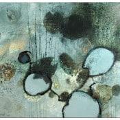 """abstraktes Gemälde """"Seeufer"""""""