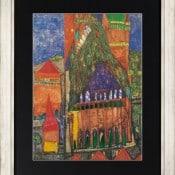"""Friedensreich Hundertwasser: """"Kathedrale I"""", Gerahmter Artprint auf Papier"""