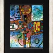 """""""Straßenkreuzung"""", limitierter Artprint von Friedensreich Hundertwasser"""