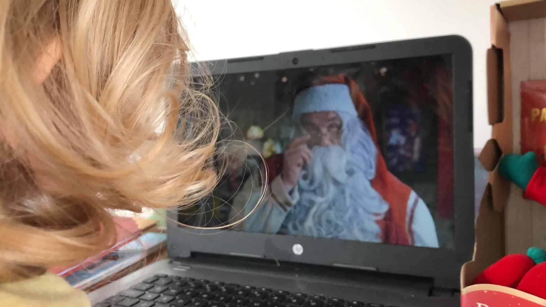 Video calling santa
