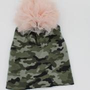Muts pompom camouflage