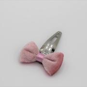 Haarspeldje pink velvet bow