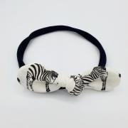 Haarband tricot zebra strik (uv stof!)