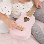 Little Dutch houten gitaar roze met naam