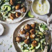 Rezept für Gurkensalat mit Mandeln