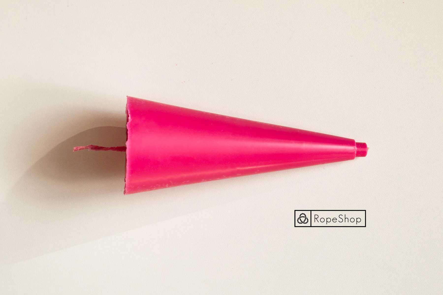 Свеча парафиновая окрашенная, розовая пастель