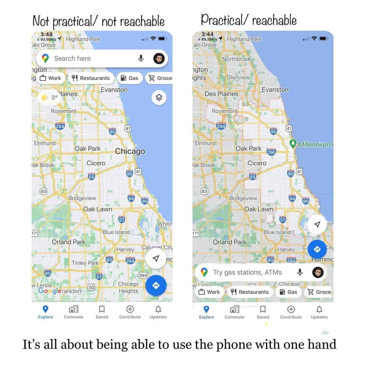 Google Maps mudança