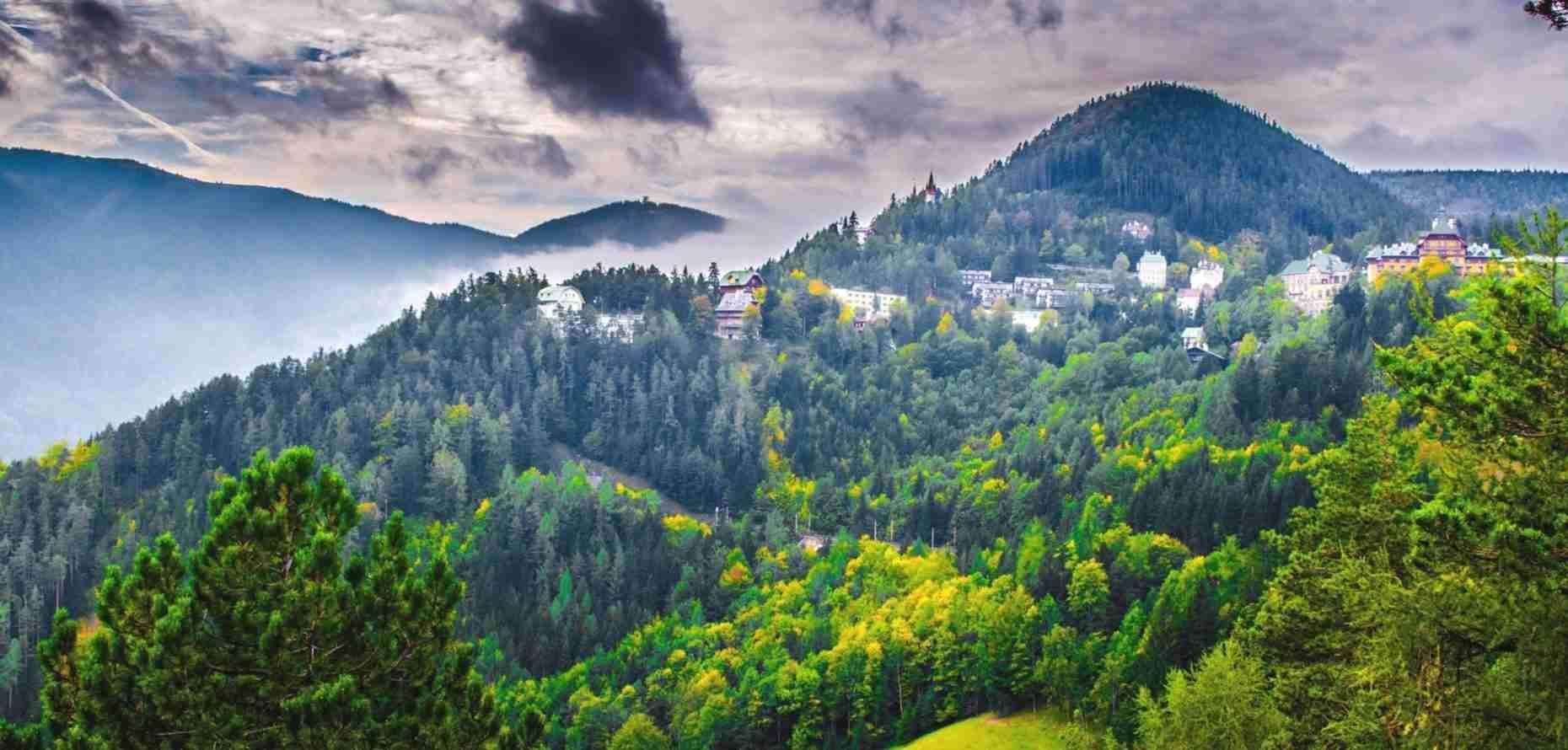 walking in the vienna alps; schneeberg