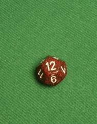 12 Vlakken Dobbelsteen Gespikkeld Rood Grijs 16mm twaalf zijdes kanten