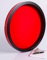 Dobbelpiste Dobbelbak Rond Rood Vinyl met Rood Vilt 40cm waar te koop