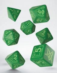 Polydice Set Q-Workshop Call of Cthulhu Green & Glow-in-the-Dark