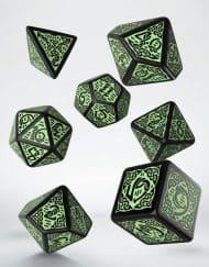 Polydice 7 Celtic Black Green Q-Workshop
