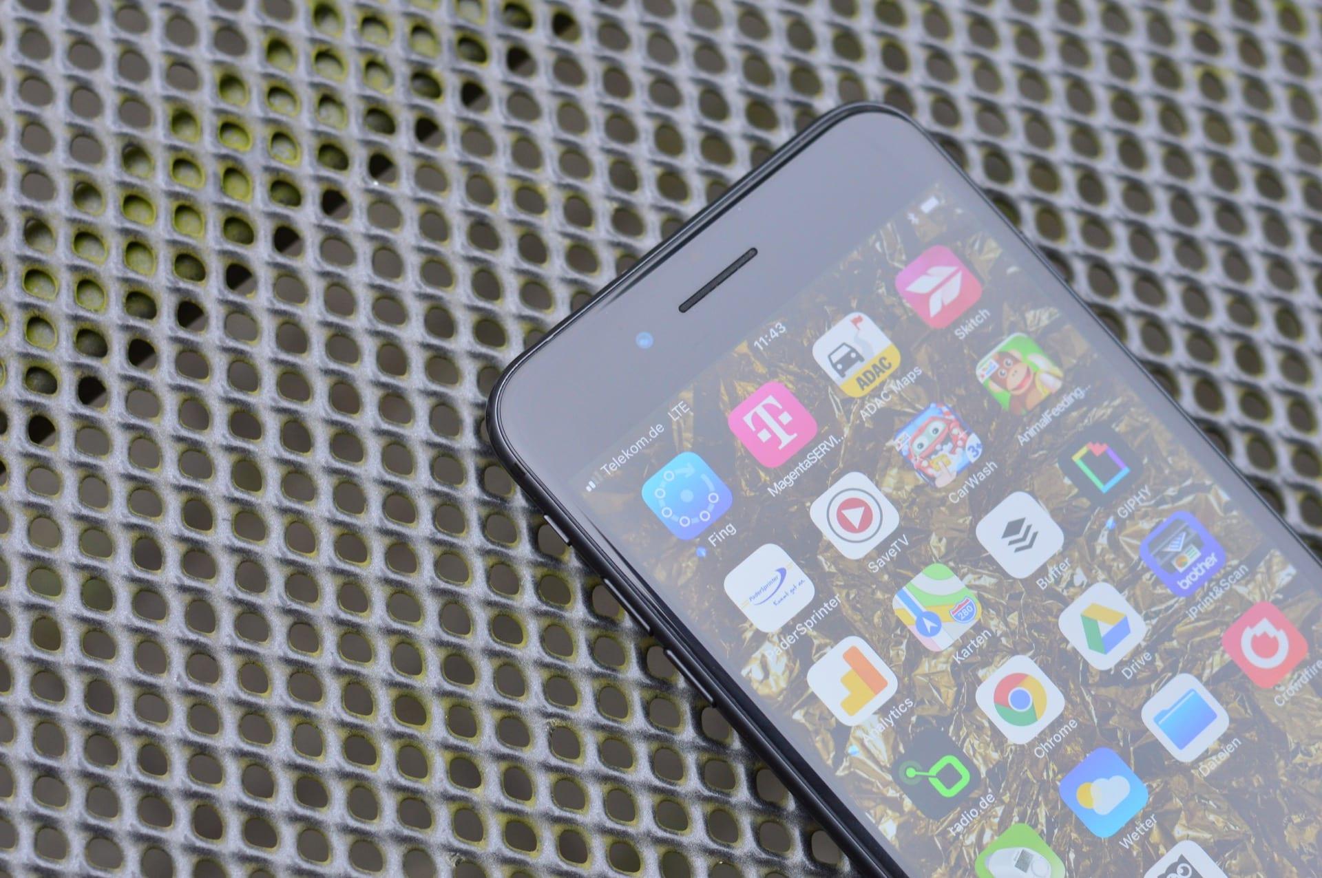 Maximales Signal am iPhone draußen im Garten