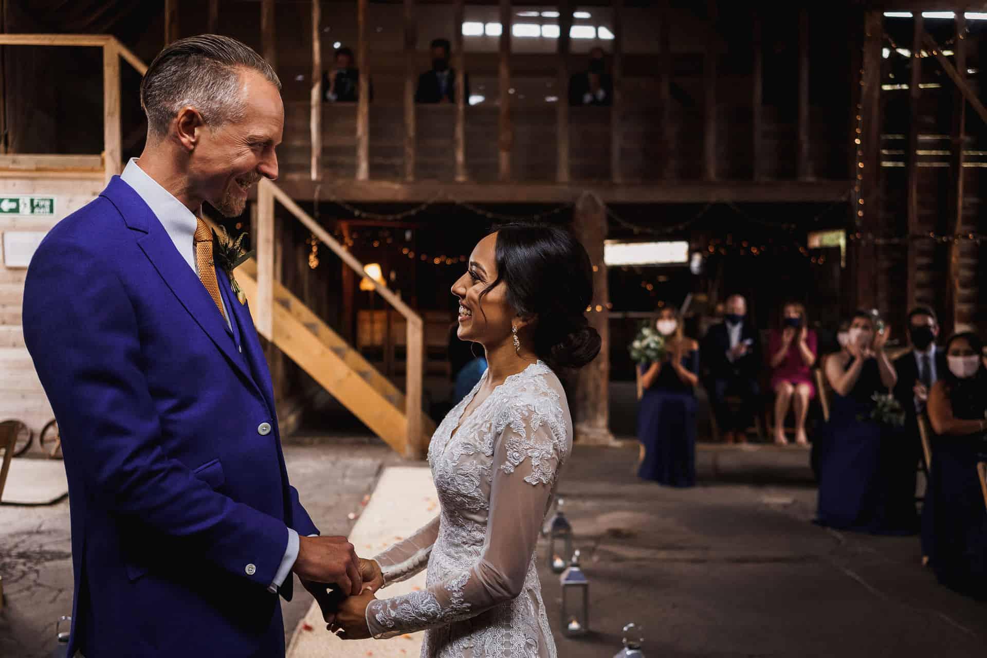 barns at lodge farm wedding photography