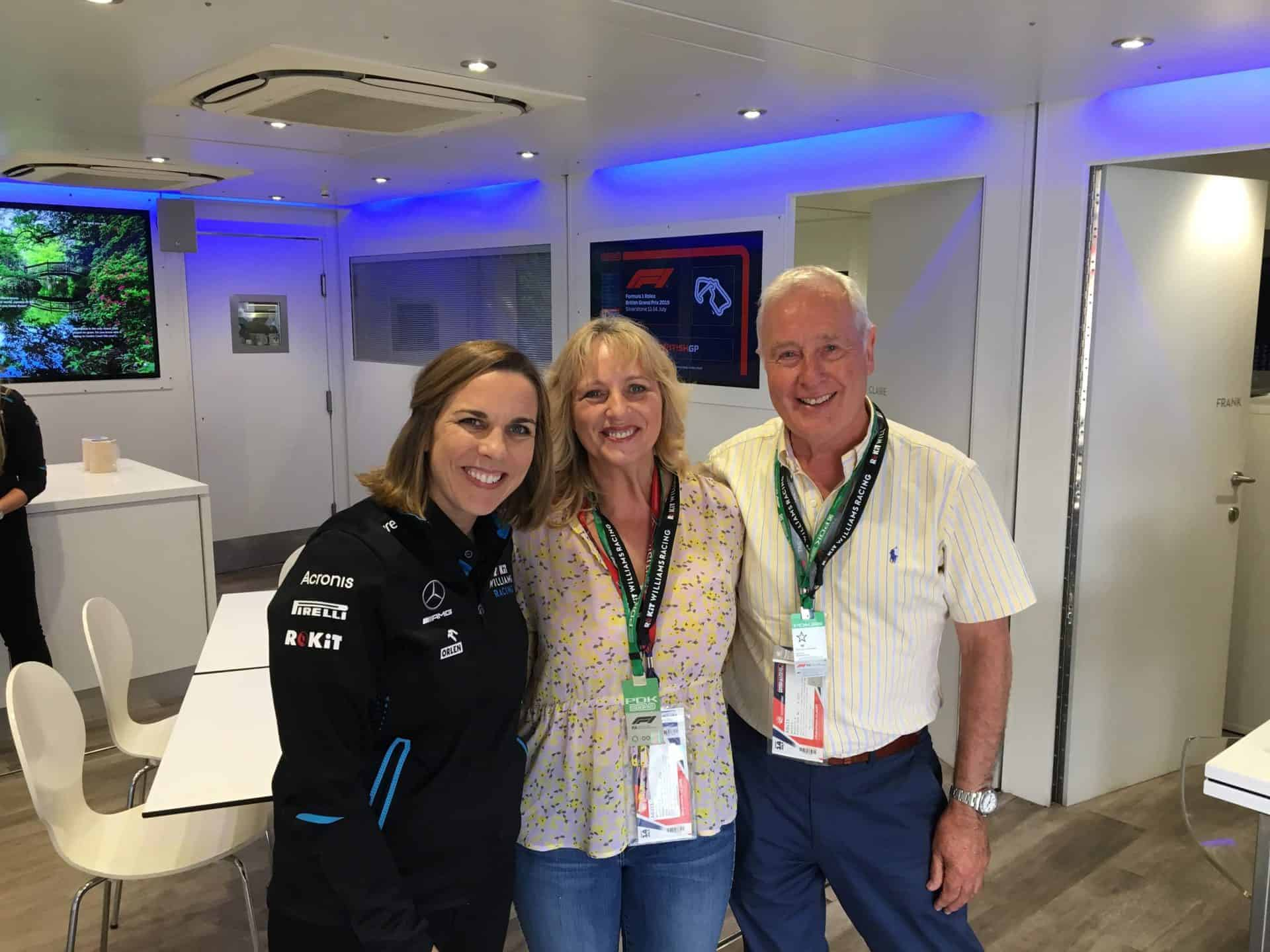Maria Holland with Claire Williams picture