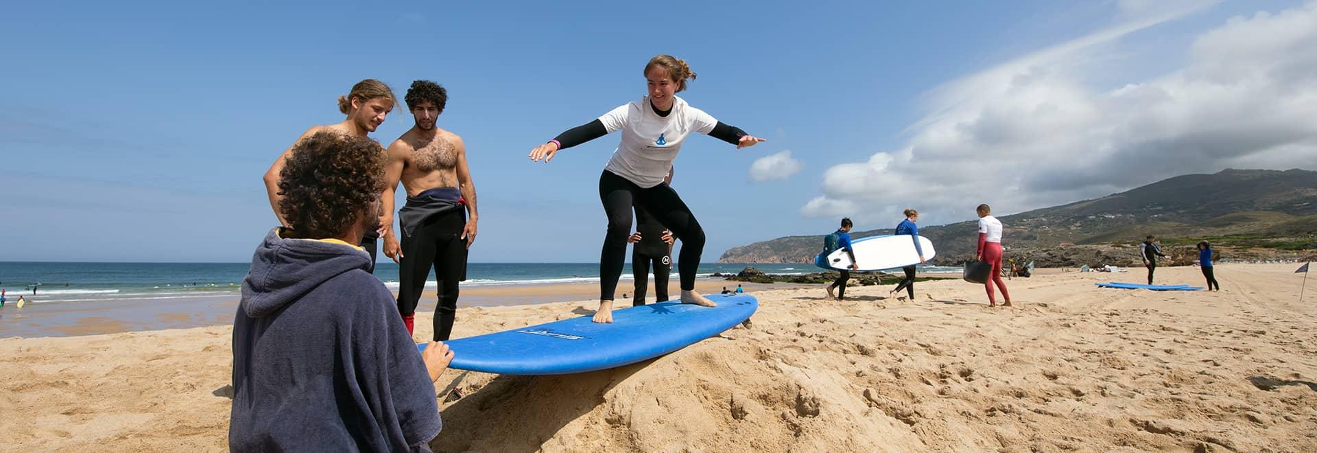 algarve intermediate surf lesson lisbon
